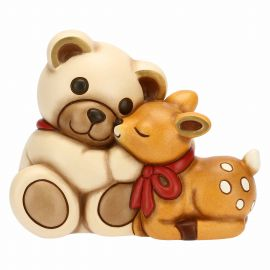 Medium Teddy with fawn