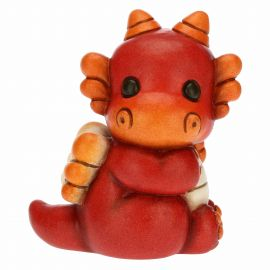 Energetic red baby dragon