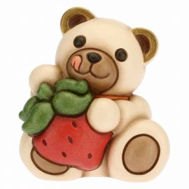 Small greedy Teddy with strawberry