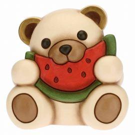 Mittelgroßer Schlemmer-Teddy mit Wassermelone