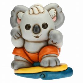 Maxi Surfing Sydney Koala on surfboard
