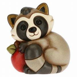 Mischievous Pepito the Raccoon with apple