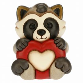 Pepito the Raccoon in love with heart