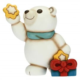 Paul the Polar Bear dreamer with star and gift