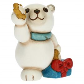 Paul the Polar Bear dreamer with stars and gift