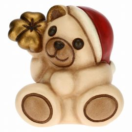 Christmas Teddy with lucky four-leaf clover