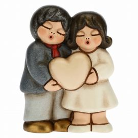 Small married anniversary couple with customizable heart