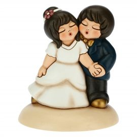 Dancing newlyweds cake topper
