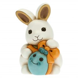 Adorable rabbit Joy with blue egg
