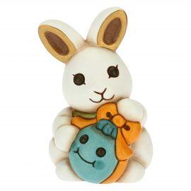 Coniglio Joy tenero con uovo azzurro