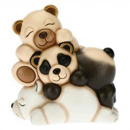 Cuccioli amorevoli Teddy, Panda e Orso polare