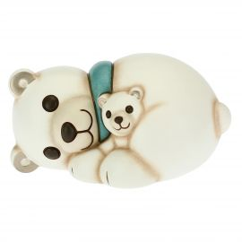 Orso polare coccole tra mamma e cucciolo