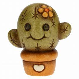 Cactus tenero con fiore giallo