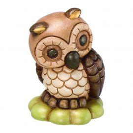 Owl on four-leaf clover