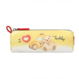 "Trousse multiuso in tessuto ""Teddy on the road"" piccola"