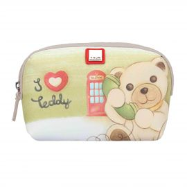 "Trousse multiuso in tessuto ""Teddy on the road"" media"