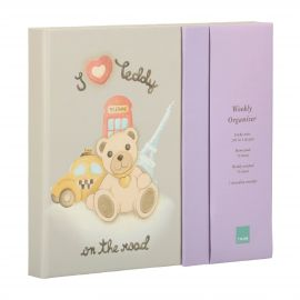 "Agenda weekly planner ""Teddy on the road"""