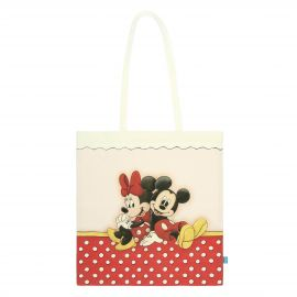 Shopper in fabric Mickey&Minnie THUN Disney®