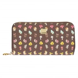 "Big wallet with zip ""Bosco incantato"""