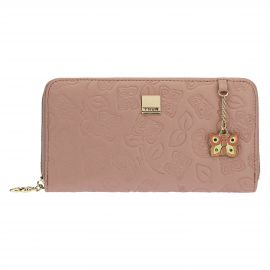 "Large ""Farfalle in Festa"" wallet in faux leather"