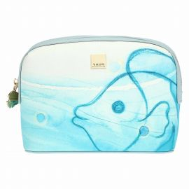 Trousse multiuso in ecopelle Mare