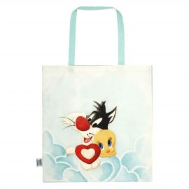THUN Warner Bros® Tweety and Sylvester fabric shopper