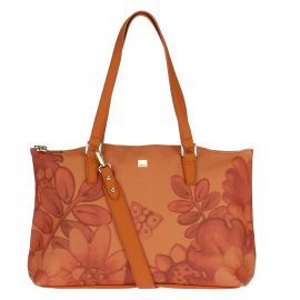 "Large ""Savana story"" bag in faux leather"