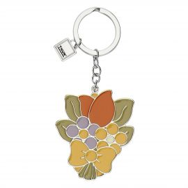 Country bouquet of flowers keyring