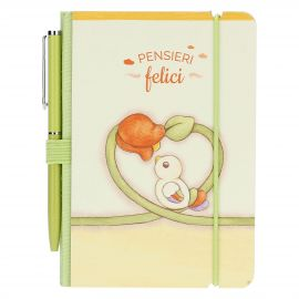 Country mini notebook with pen