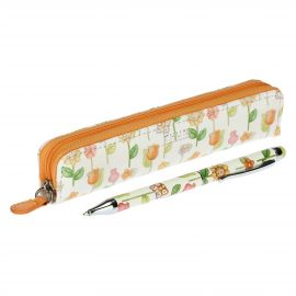 Country pencil case with ballpoint pen