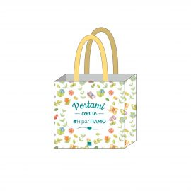 Best wishes shopper in antibacterial canvas