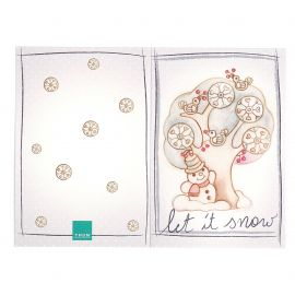 Greeting card Snowman