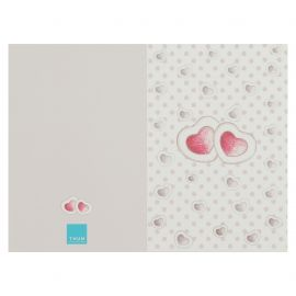 Wedding greeting card with hearts