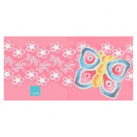 Gift tag with butterfly
