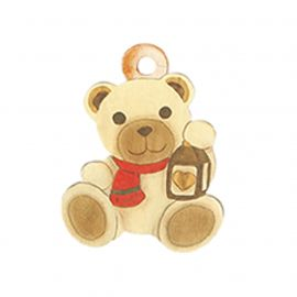 Pack 3 greeting cards Teddy with lantern