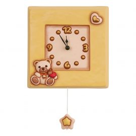 Pendulum with musical toy Teddy with ladybird