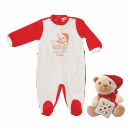 "Gift set romper suit + plush ""My first Christmas"""