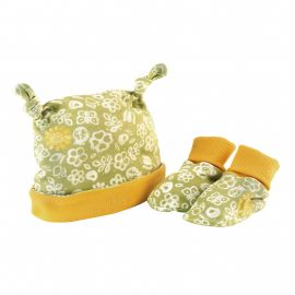 Set cappellino e babbucce Sunflower