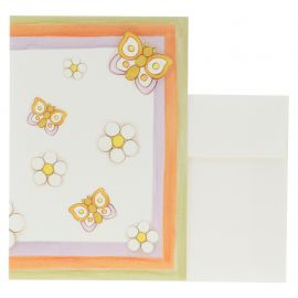 Spring butterflies greeting card
