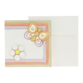 Spring gift tag with butterfly