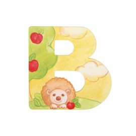 Wooden letter B for wall mounting