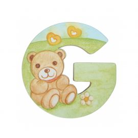 Wooden letter G for wall mounting