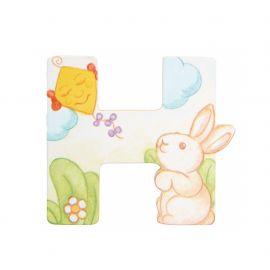 Wooden letter H for wall mounting