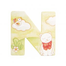 Wooden letter N for wall mounting