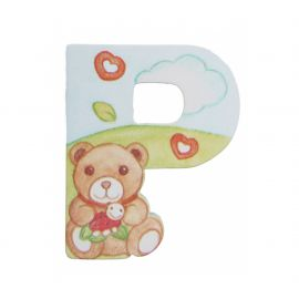 Wooden letter P for wall mounting