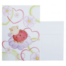 Greeting card ladybird