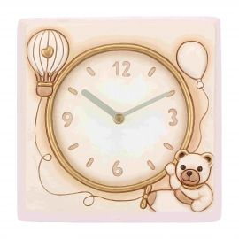 Square Wall Clock Teddy Unisex