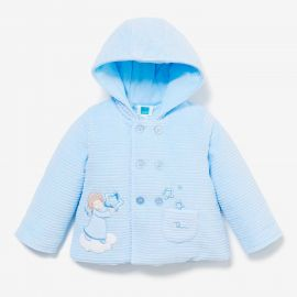 THUN & OVS blue padded jacket in pure cotton Angels