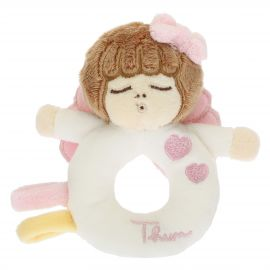 Rattle toy pink angel