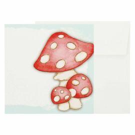Bigliettino chiudipacco funghi piccolo